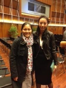 Lini Gong mit Ying Wang